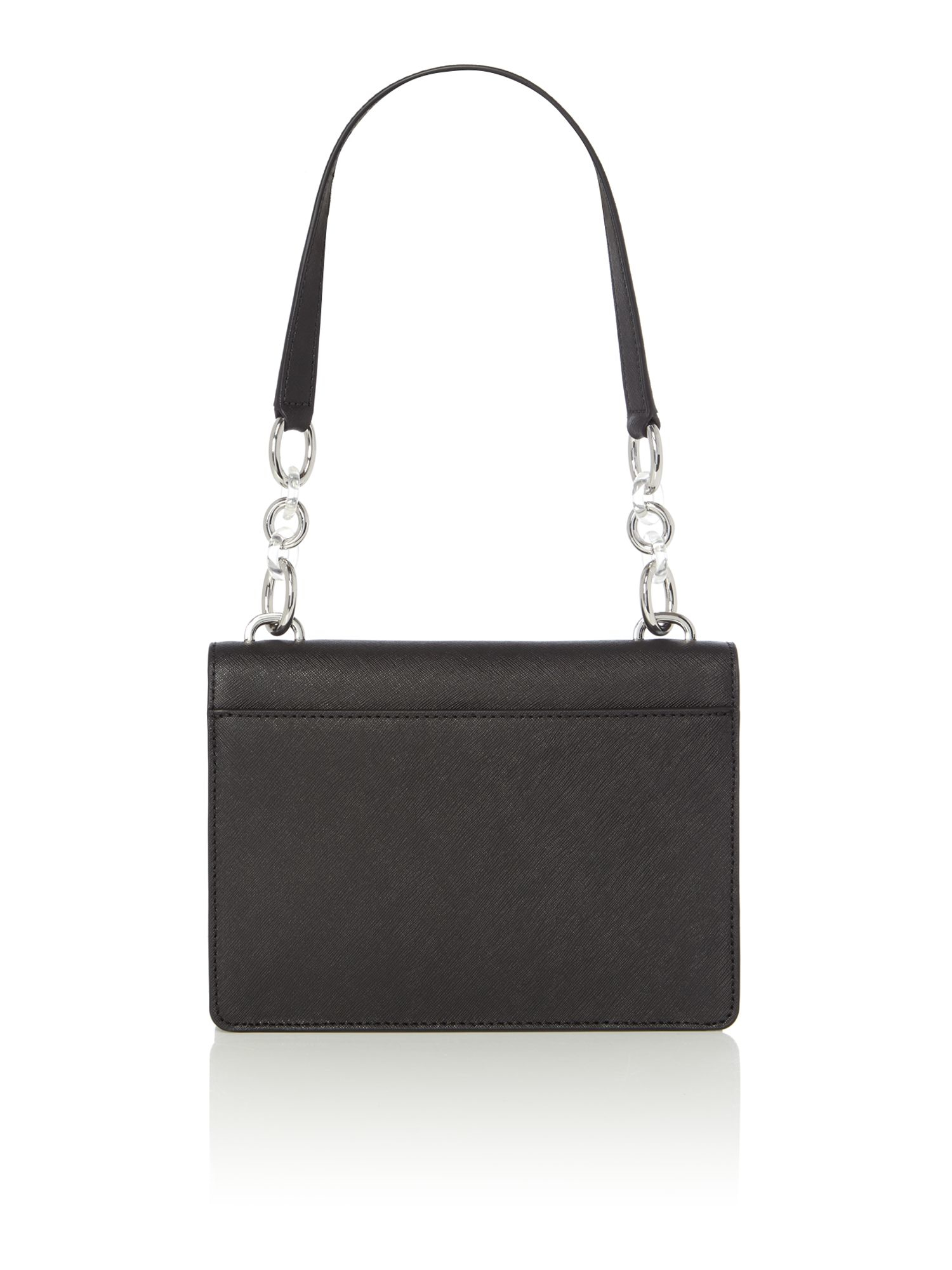 Create a look worth remembering with this plush MICHAEL Michael Kors® Evie Medium Shoulder Flap handbag. Made of softly pebbled leather. Flap with magnetic snap closure.