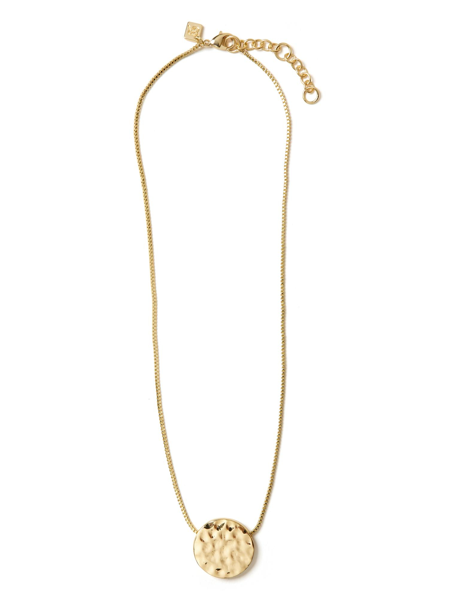 banana republic gold disc necklace in metallic lyst. Black Bedroom Furniture Sets. Home Design Ideas