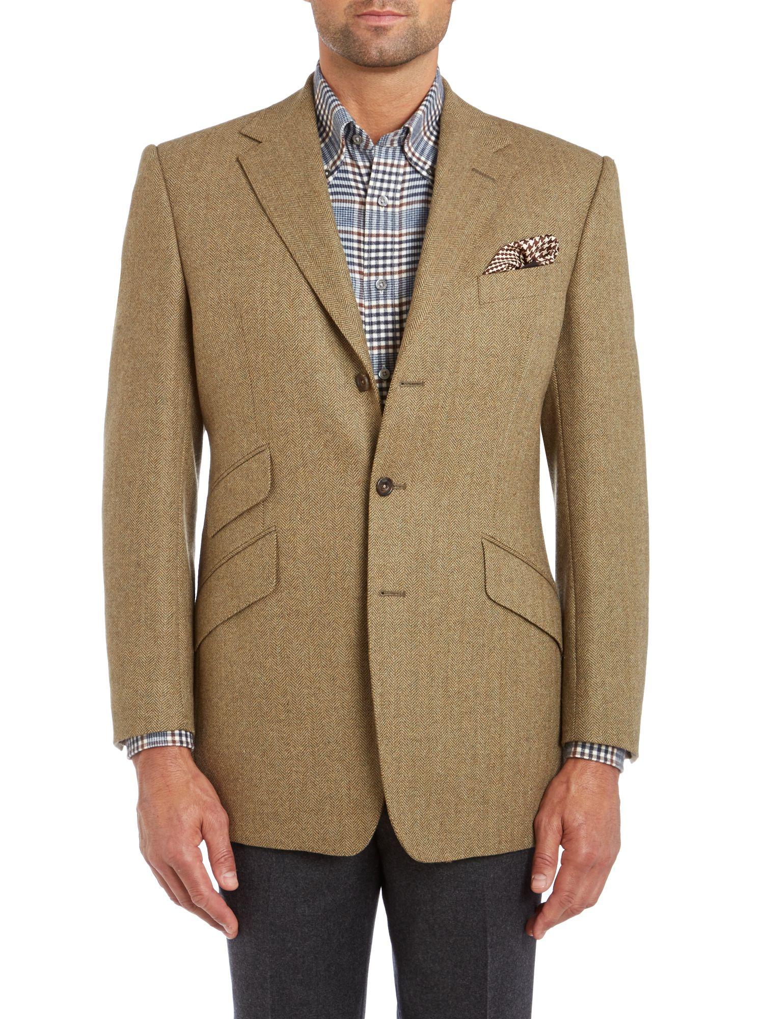 Lyst - Chester Barrie Grosvenor Herringbone Tweed Jacket in Green for Men