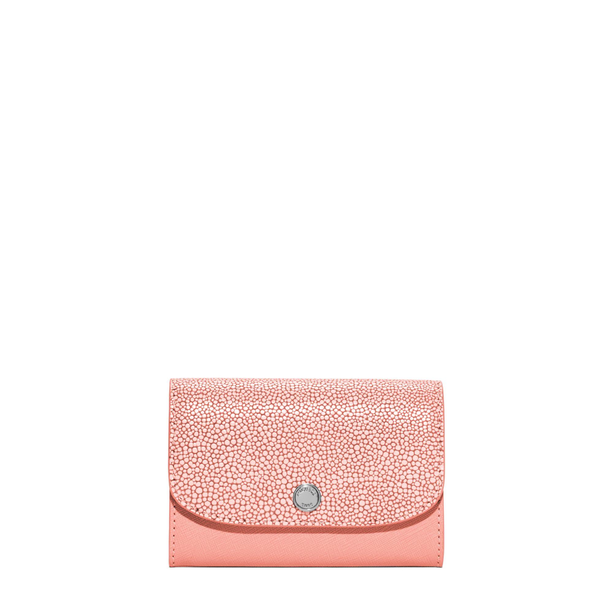 db928b5dd133 Michael Kors Juliana Medium 3-in-1 Saffiano Leather Wallet in Pink ...