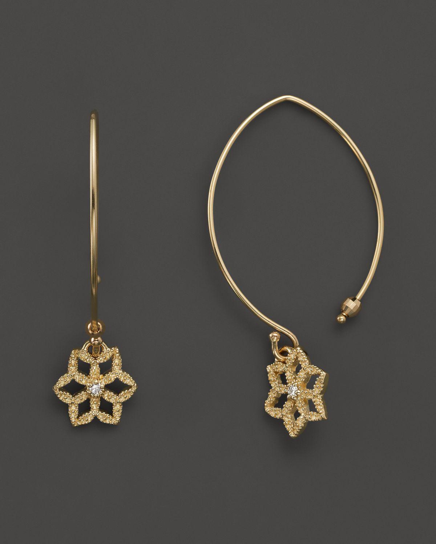 mizuki 14k yellow gold diamond baby flower crest marquise. Black Bedroom Furniture Sets. Home Design Ideas