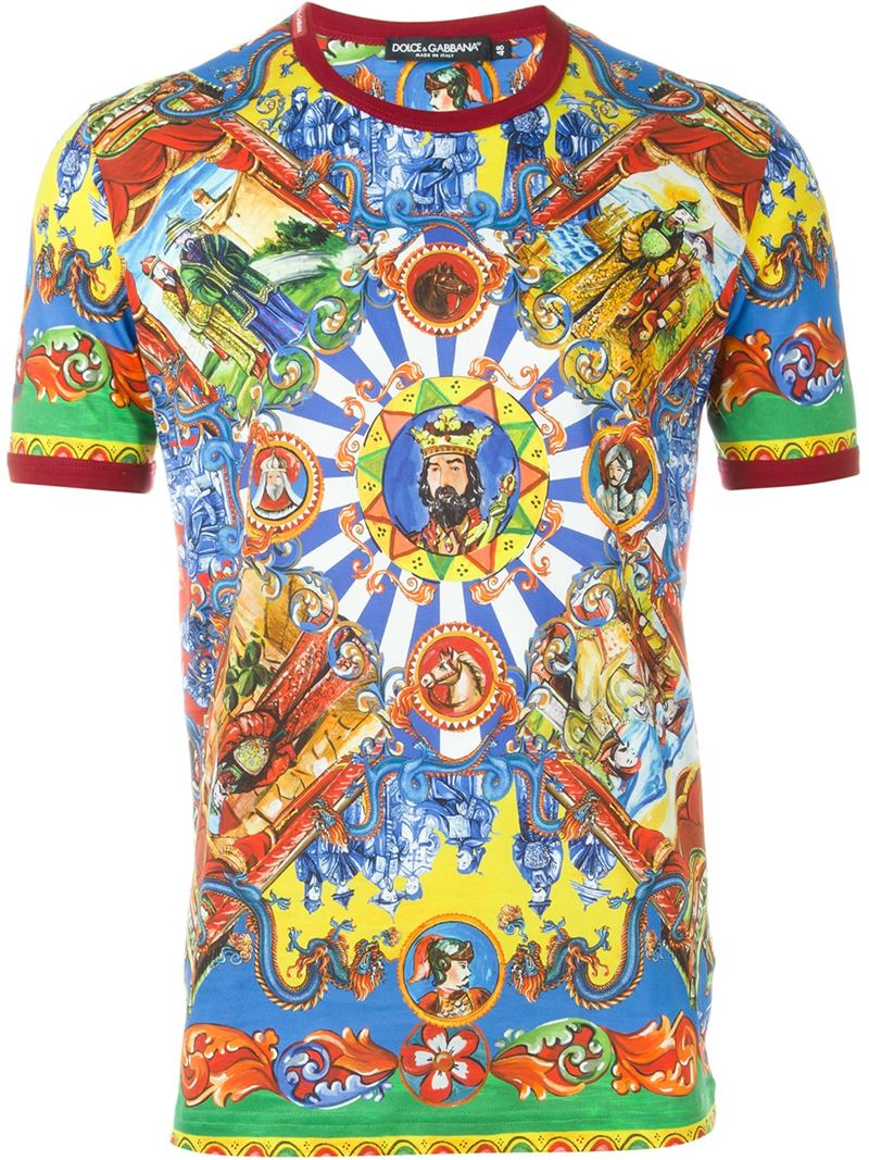 Dolce Gabbana Cart T Shirt For Men Lyst