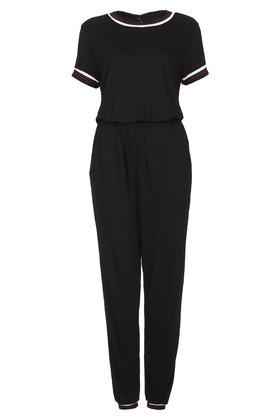 c3e53601f54 Lyst - TOPSHOP Sporty Trim T-shirt Jumpsuit - Black in Black