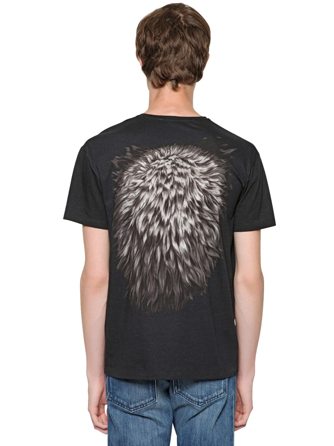 Lyst Valentino Wolf Print T Shirt In Black For Men