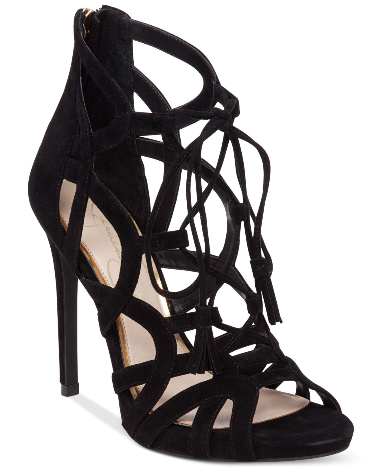 Jessica simpson Racine Lace-up High-heel Gladiator Sandals in ...