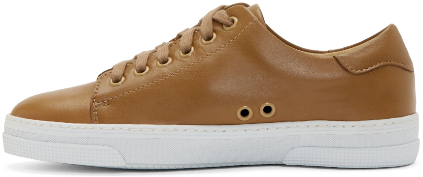 A.p.c. Tan Leather Steffi Tennis Sneakers in Brown for Men | Lyst