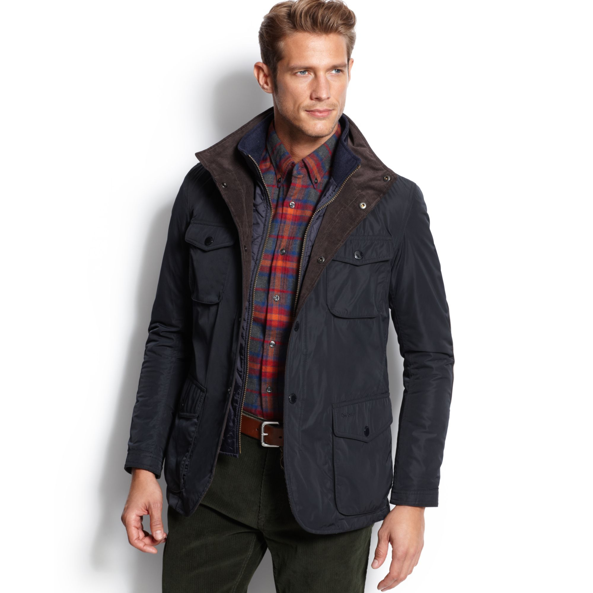 Lyst Barbour Parwich Jacket In Blue For Men