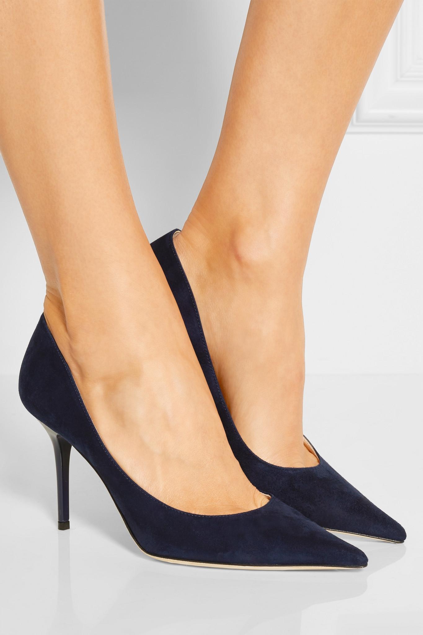 3565266fbb23 Gallery. Previously sold at  NET-A-PORTER · Women s Jimmy Choo Agnes  Women s Velvet Platform Heels ...