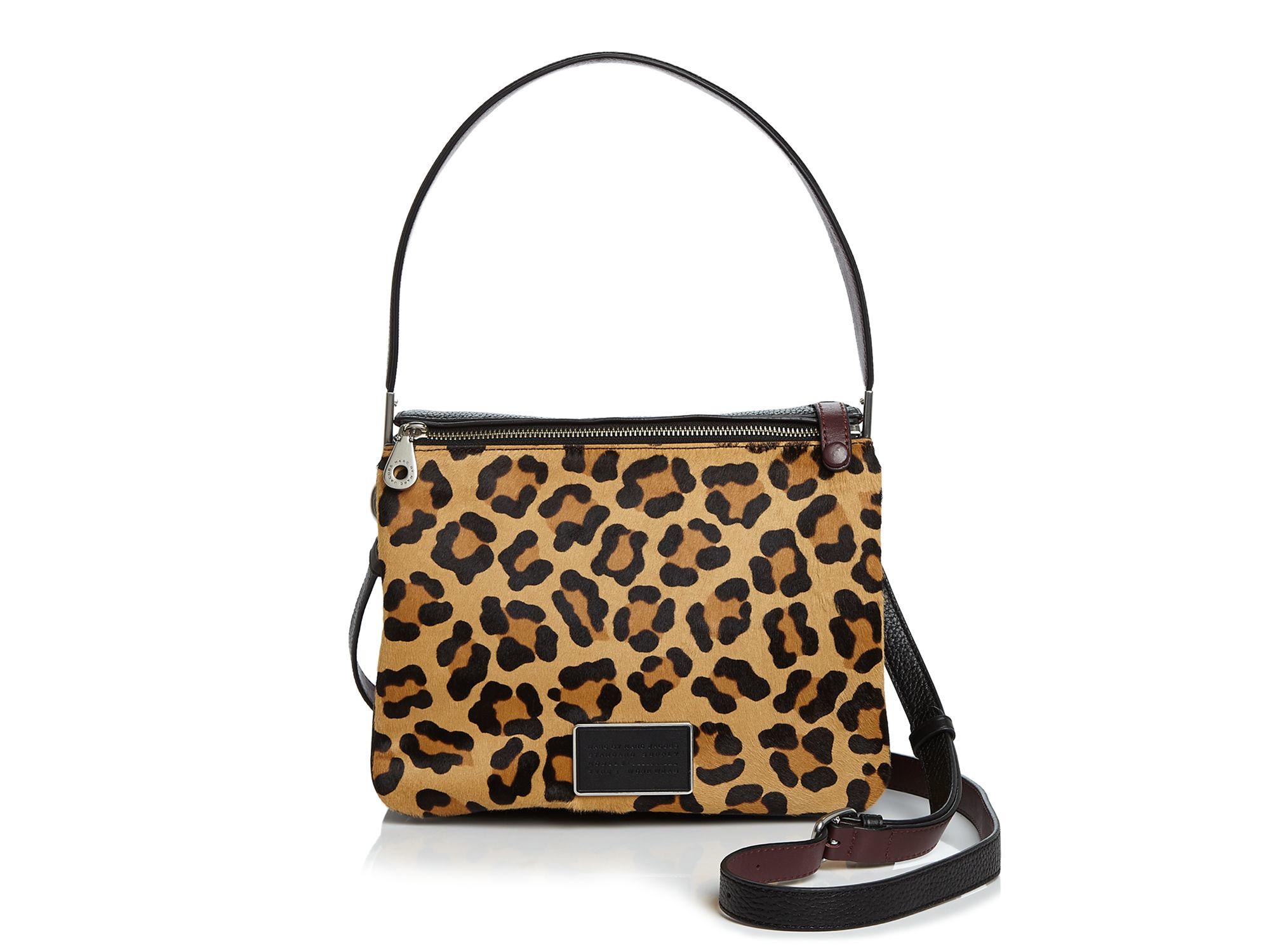 45a22700e0a0 Lyst - Marc By Marc Jacobs Ligero Leopard Calf Hair Shoulder Bag