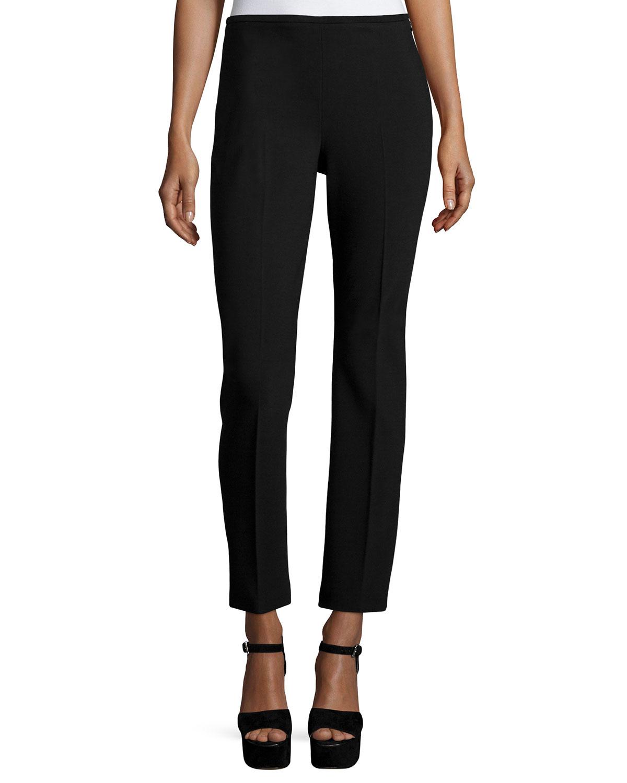 Lyst Michael Kors Skinny Side Zip Ankle Pants In Black