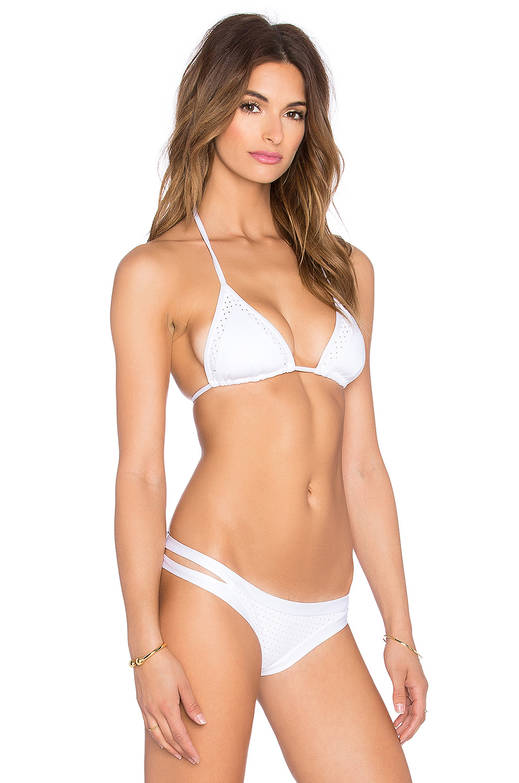 4b10981eff Lyst - Vitamin A Sienna Triangle Bikini Top in White