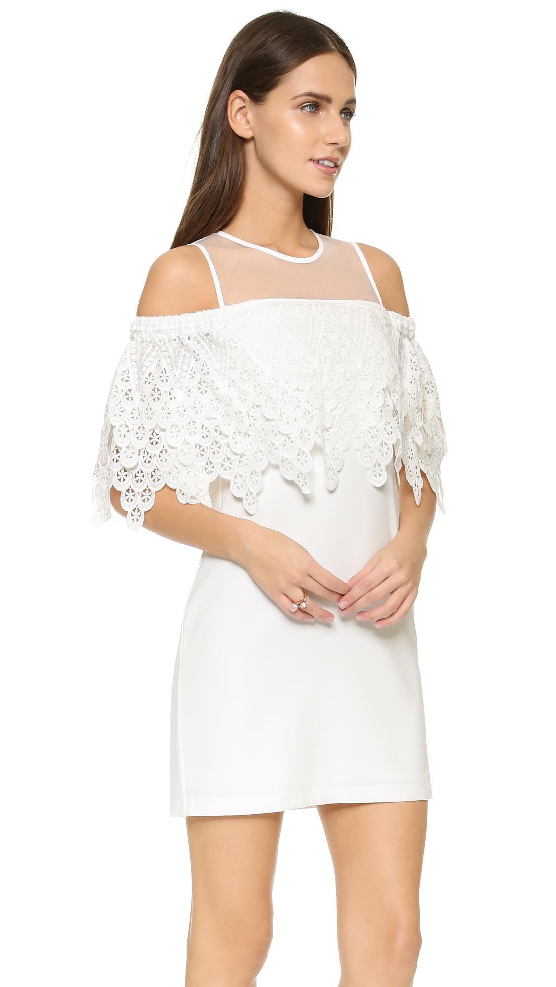 8b05c8fba2fe9 Lyst - Endless Rose Cold Shoulder Lace Mini Dress