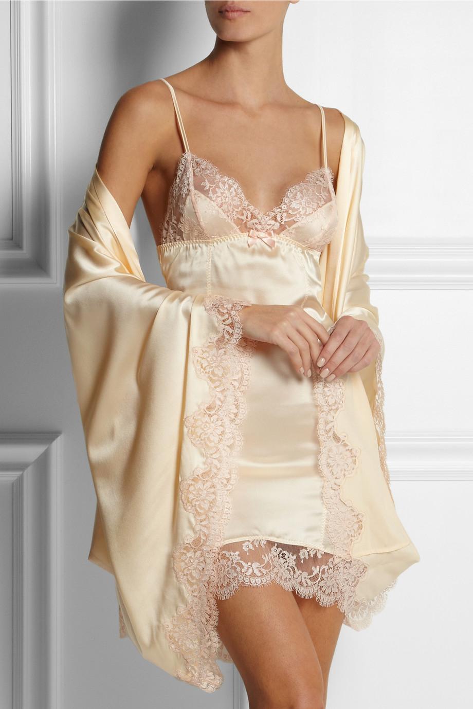 Satin lingerie lace