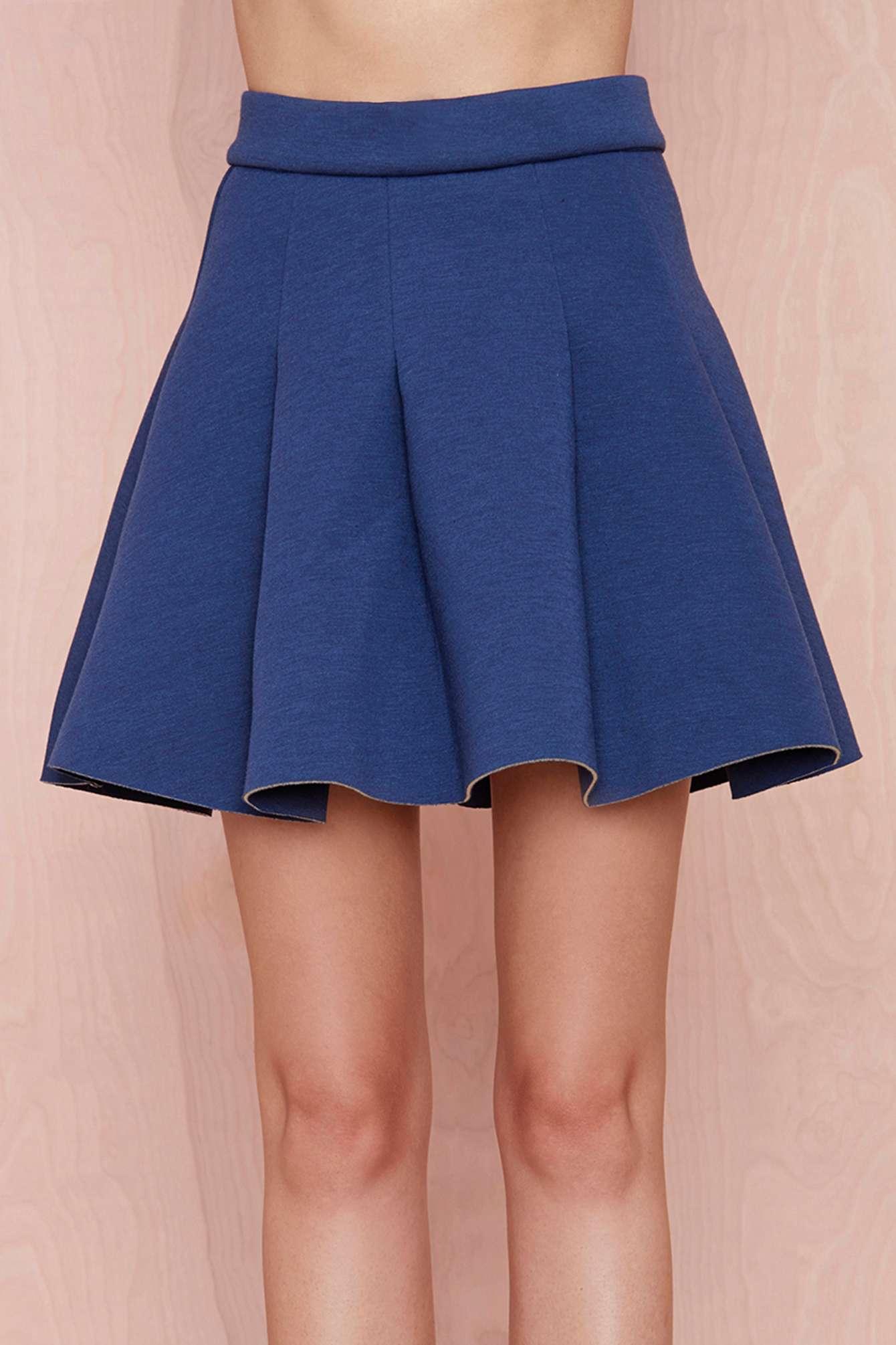 gal skater skirt navy in blue navy lyst