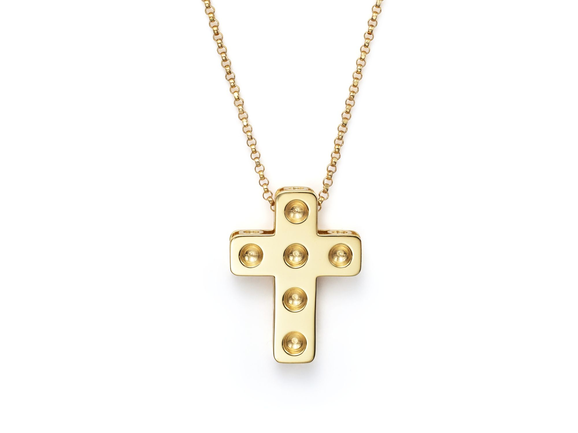 Roberto Coin 18k Yellow Gold Pois Moi Necklace with Diamonds, 16L