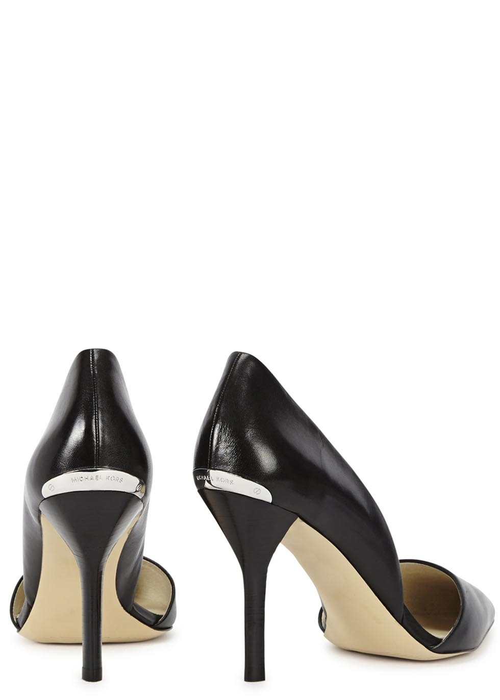 dfba12aa4fa8 Michael Kors Julieta Black Leather Pumps in Black - Lyst