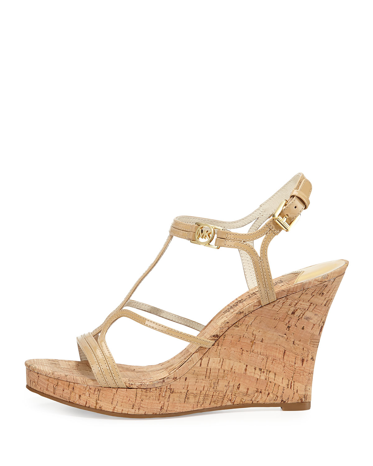 9f8516e63bc Lyst - MICHAEL Michael Kors Cicely Wedge Sandal in Natural
