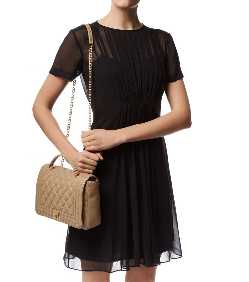 Lyst - Love moschino Medium Quilted Shoulder Bag in Natural : moschino quilted shoulder bag - Adamdwight.com