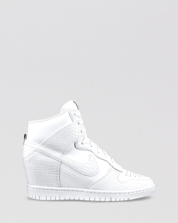 san francisco d9039 cd295 Gallery. Previously sold at  Bloomingdale s · Women s Wedge Sneakers  Women s Nike Dunk Women s Nike Dunk Sky Hi