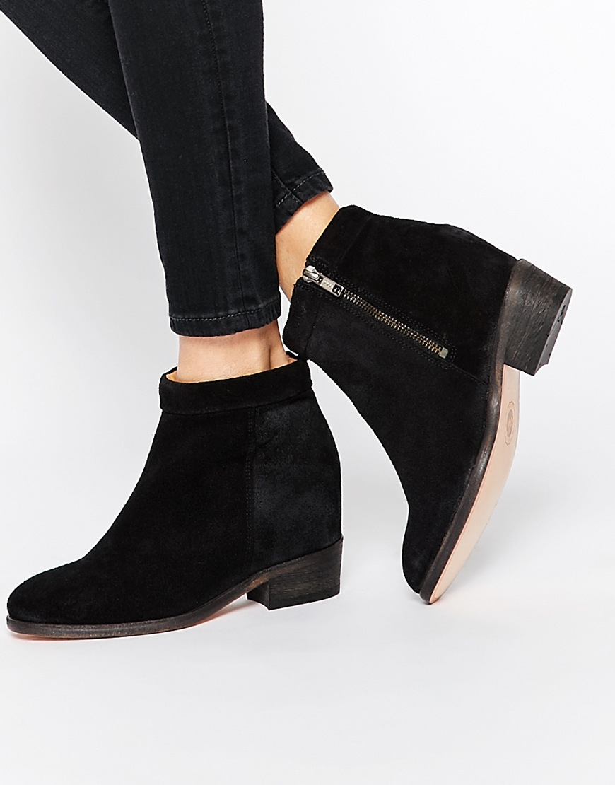 Leather Ankle Boots - Black suede Hudson Free Shipping Original VQ1iA