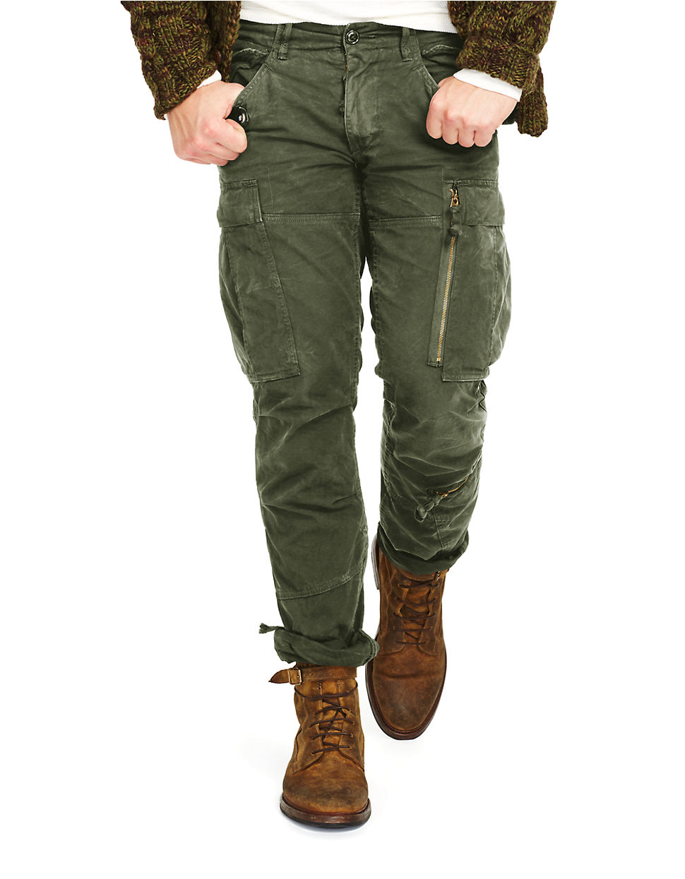 Polo ralph lauren Military Cargo Pants in Green for Men | Lyst