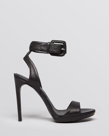 Burberry Sandals Alderney Ankle Strap High Heel In Black Lyst