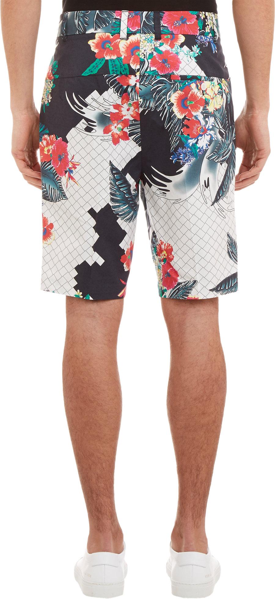 3 1 Phillip Lim Floralprint Walking Shorts For Men Lyst