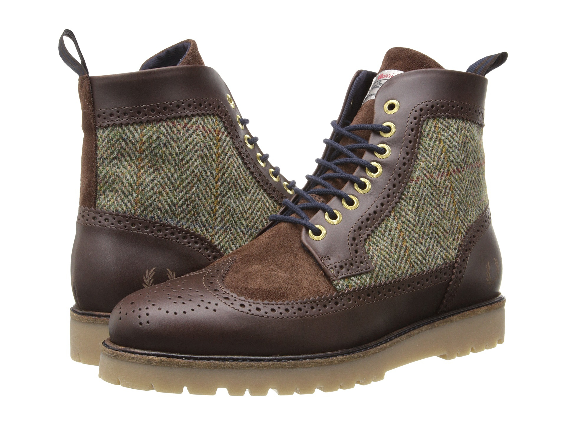 Lyst - Fred Perry Northgate Boot Harris Tweed/leather in ...