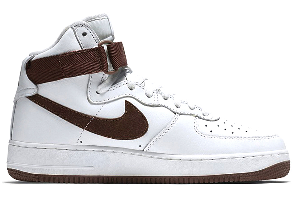 Nike Shoes White With Blue Swish And Brown Sole