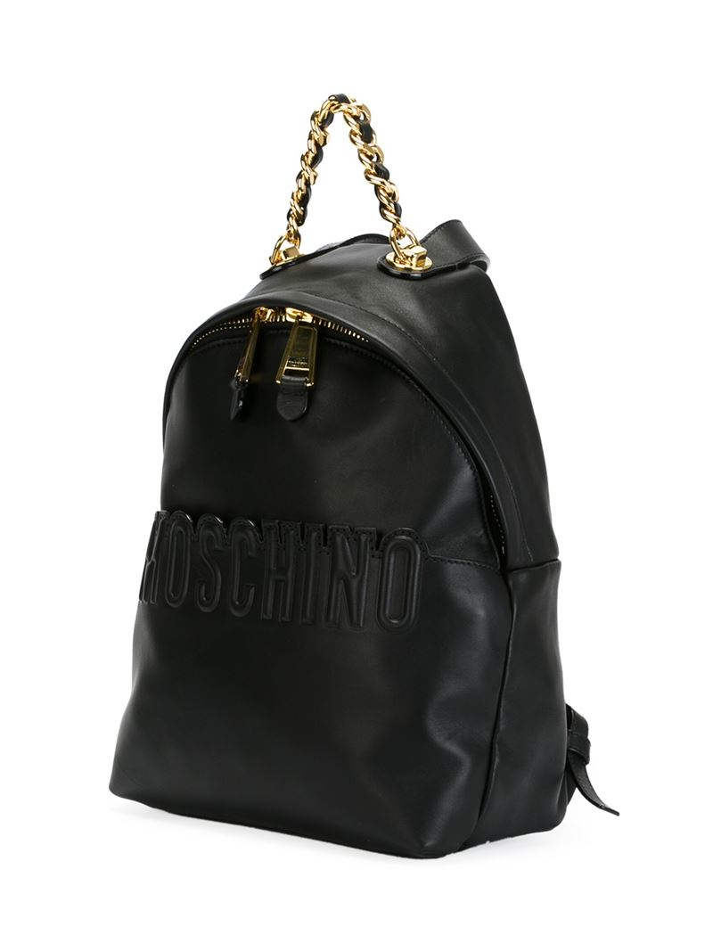 Lyst Moschino Quilted Mini Leather Backpack In Black