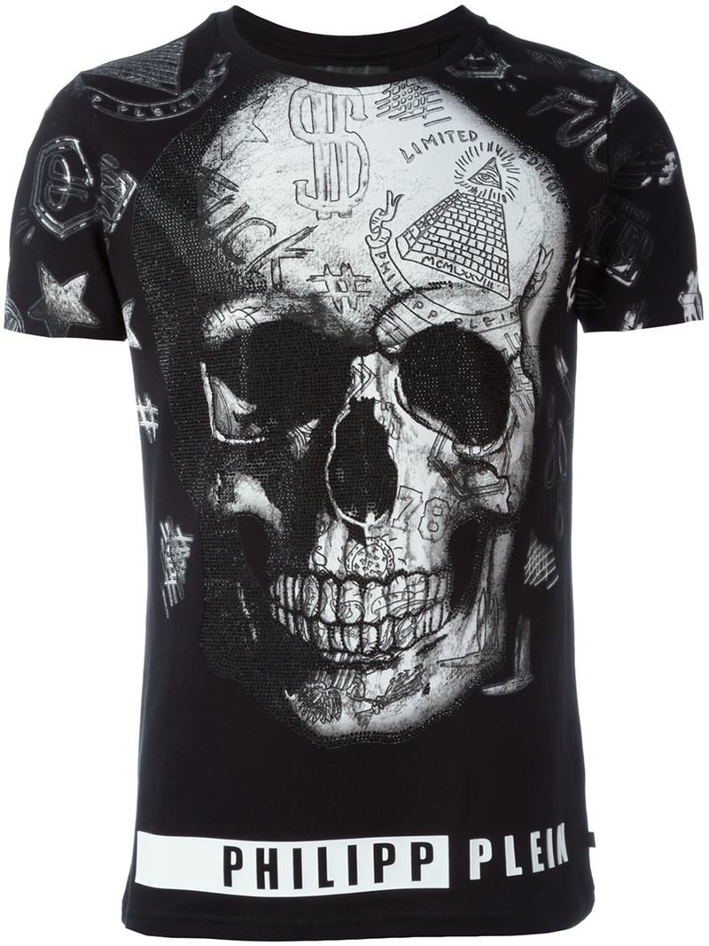 philipp plein 39 david 39 t shirt in black for men lyst. Black Bedroom Furniture Sets. Home Design Ideas