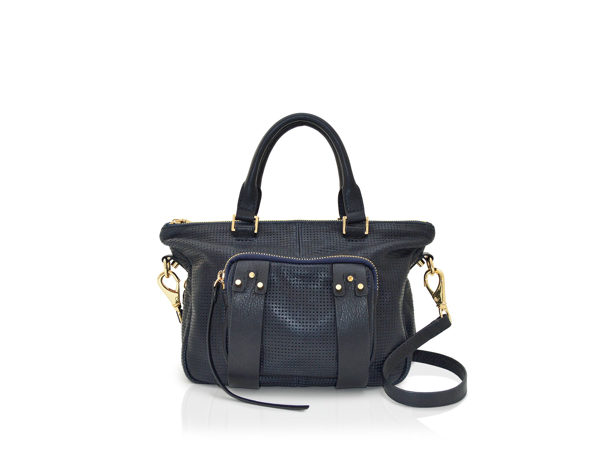 c6398434af Lyst - She + Lo Next Chapter Perforated Mini Satchel in Blue