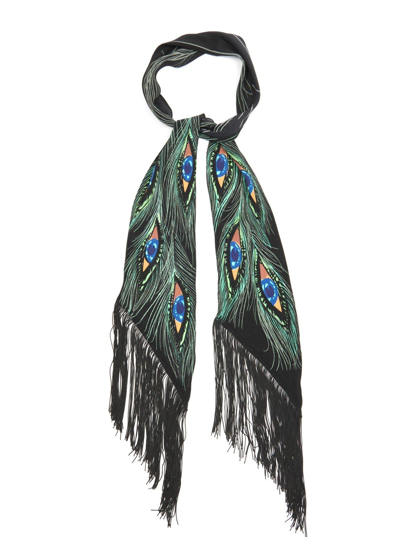 Skinny fringed scarf Rockins JHoiXDyjd