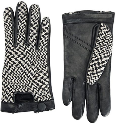 Rag & Bone Beacon Gloves in Black (black/white)