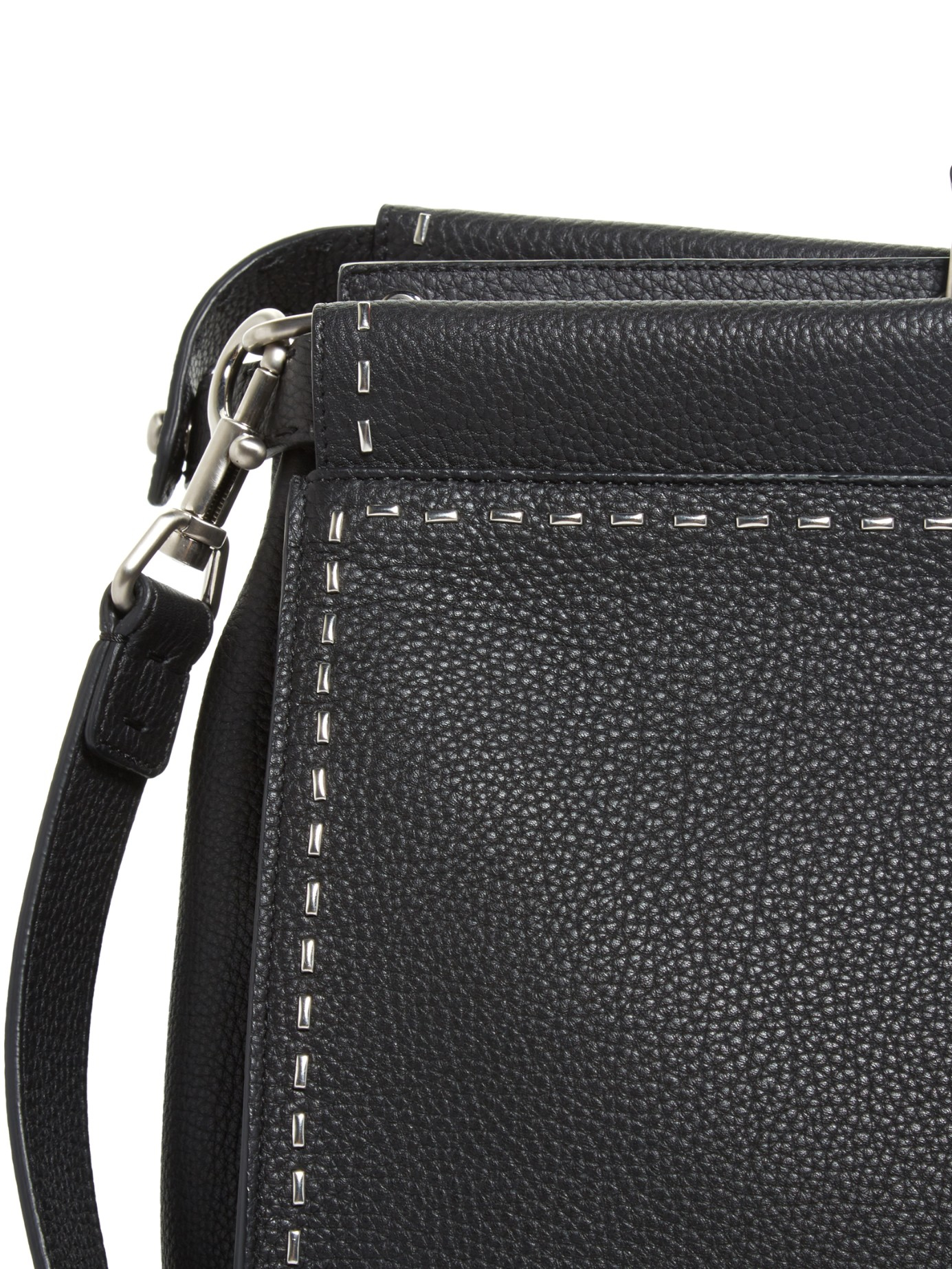 ... promo code for lyst fendi stitched peekaboo leather weekend bag in black  for men f981d aaa4a ... d4d07c9951