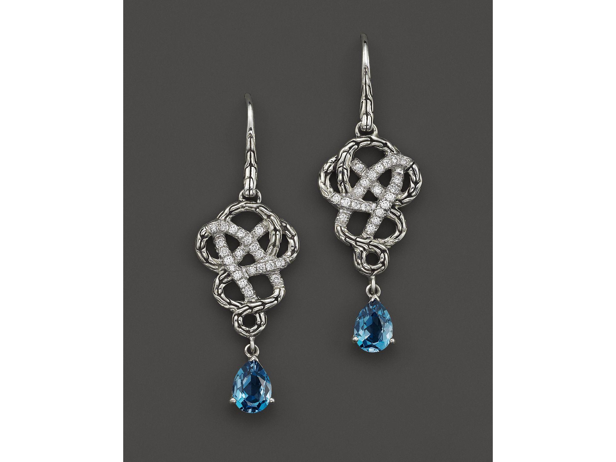 John hardy Sterling Silver Classic Chain Drop Braided Earrings