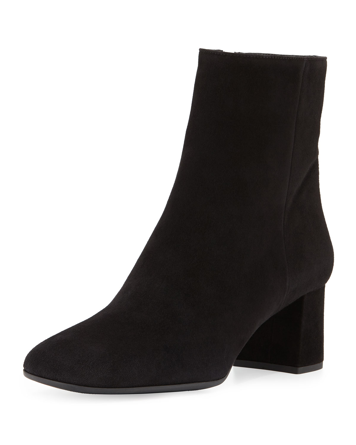 Lyst Prada Suede Square Toe Ankle Boot In Gray