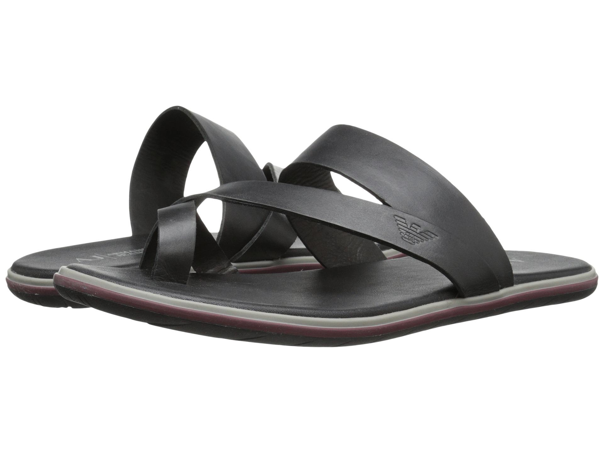0c782974c Lyst - Armani Jeans Toe Lock Sandal in Black for Men