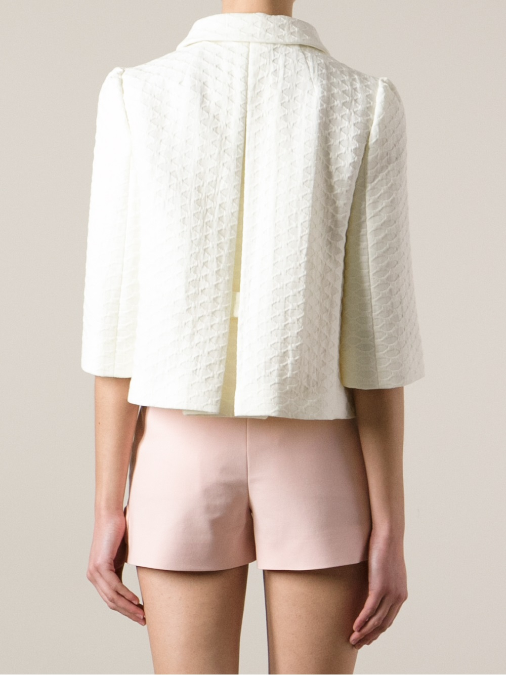Red valentino Cropped Jacket in White | Lyst