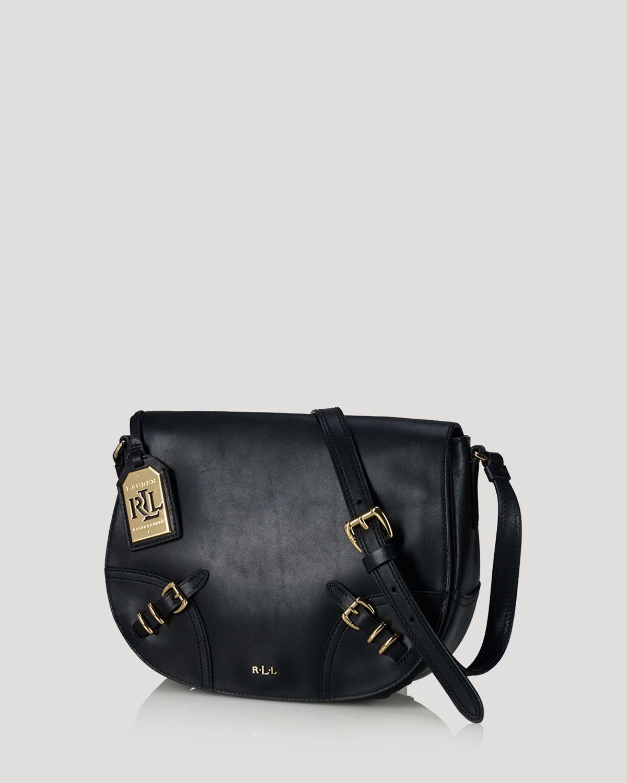 ... brown 7a897 5d0c9 discount code for lyst ralph lauren lauren crossbody lauren  saddle bag in black f8978 80b5a ... 60cf236039