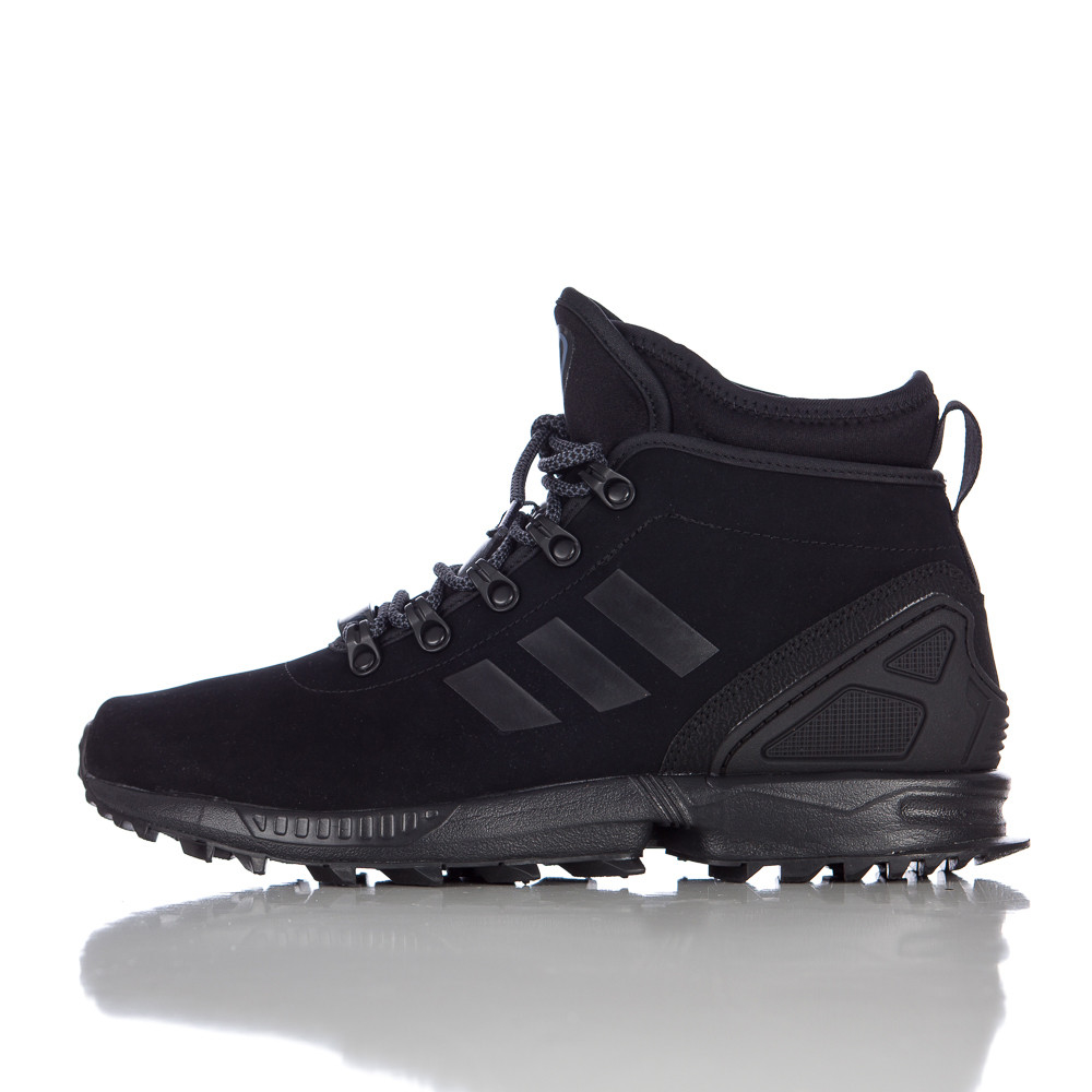 best website 1b3e7 91b3d ... reduced lyst adidas zx flux winter leather boot in core black in black  for men 5b571