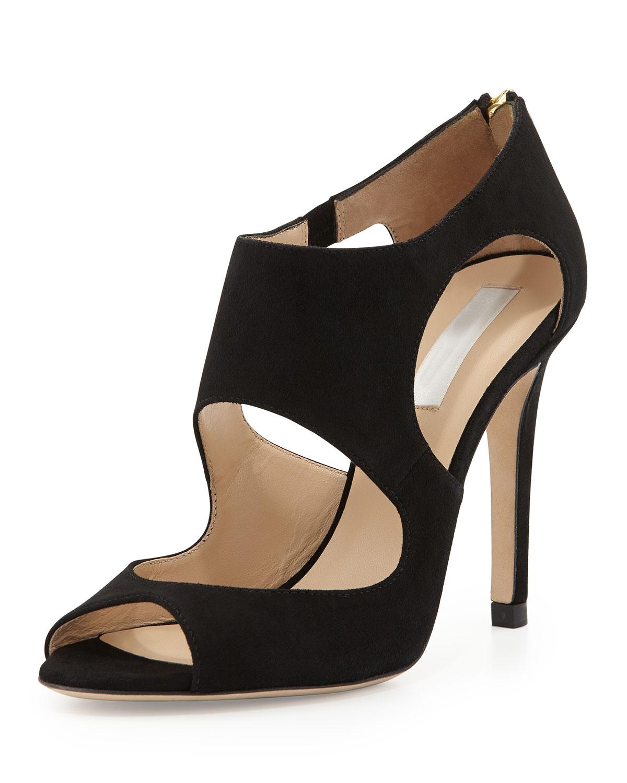 0f34760440261e Lyst - L.K.Bennett Alma Suede Cutout Sandal in Black