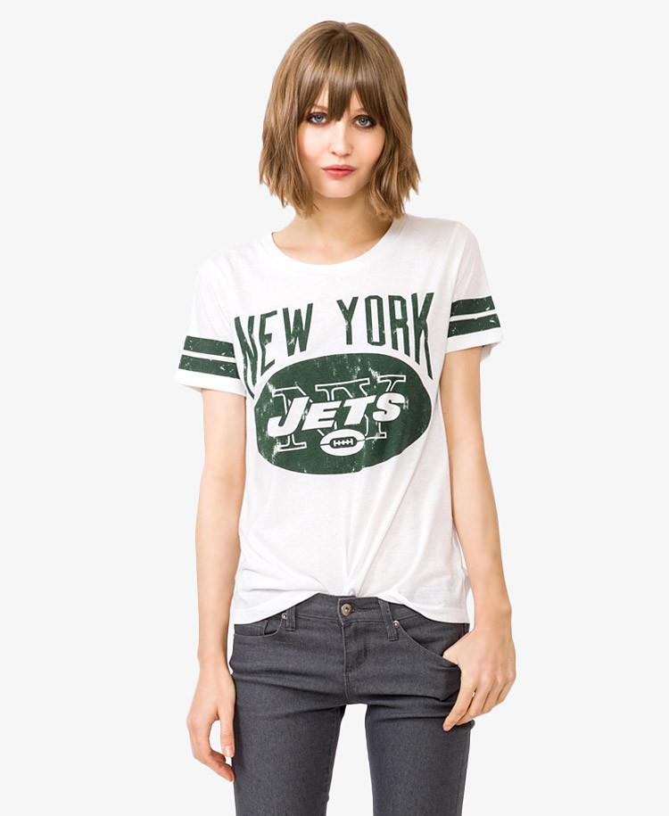 Forever 21 New York Jets Logo Tee In White