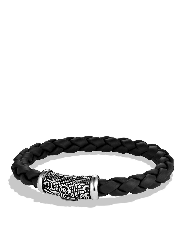 David Yurman Waves Bracelet In Black In Metallic For Men