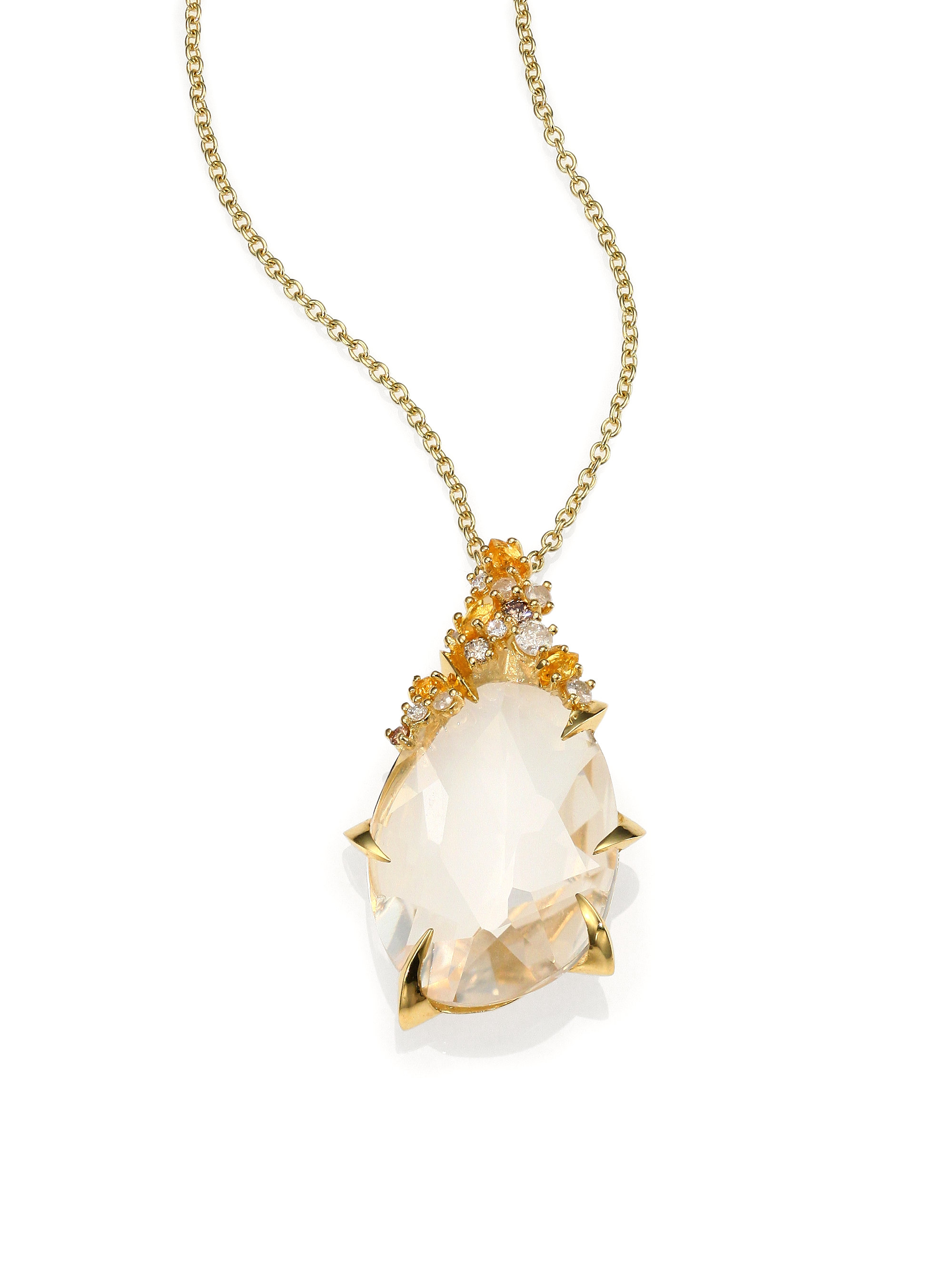 yellow sapphire necklace - photo #6