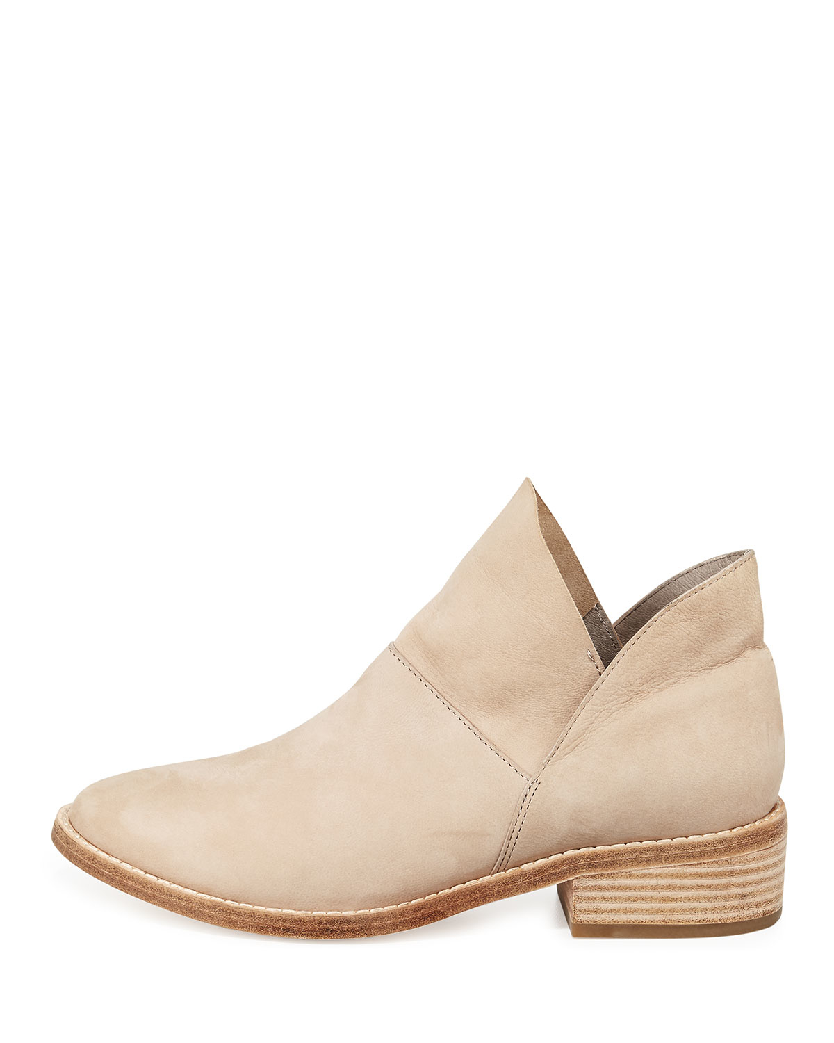d352a154b646 Lyst - Eileen Fisher Leaf Nubuck Boots in Natural