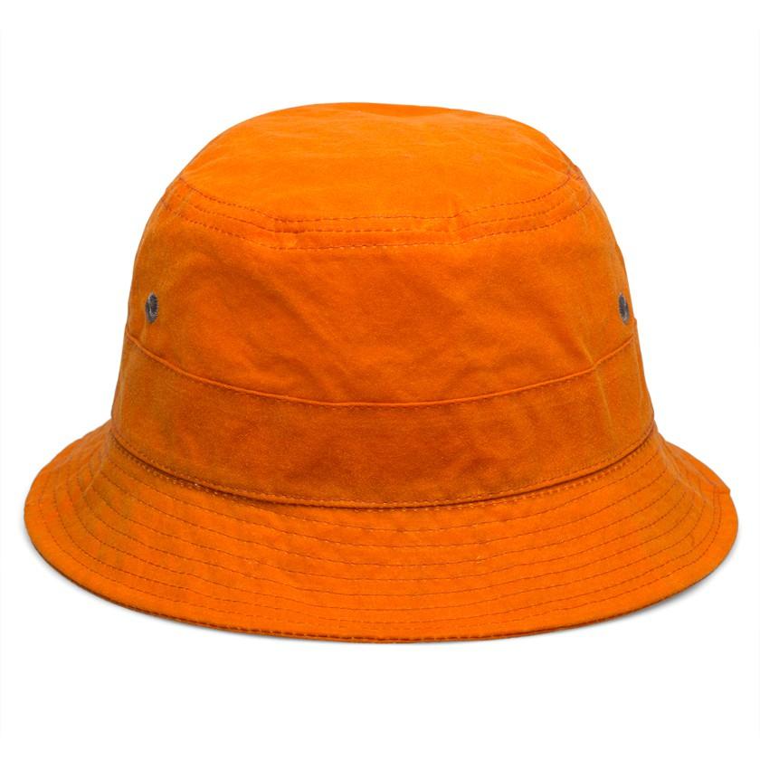 Universal Works Orange Wax Bucket Hat In Orange For Men Lyst