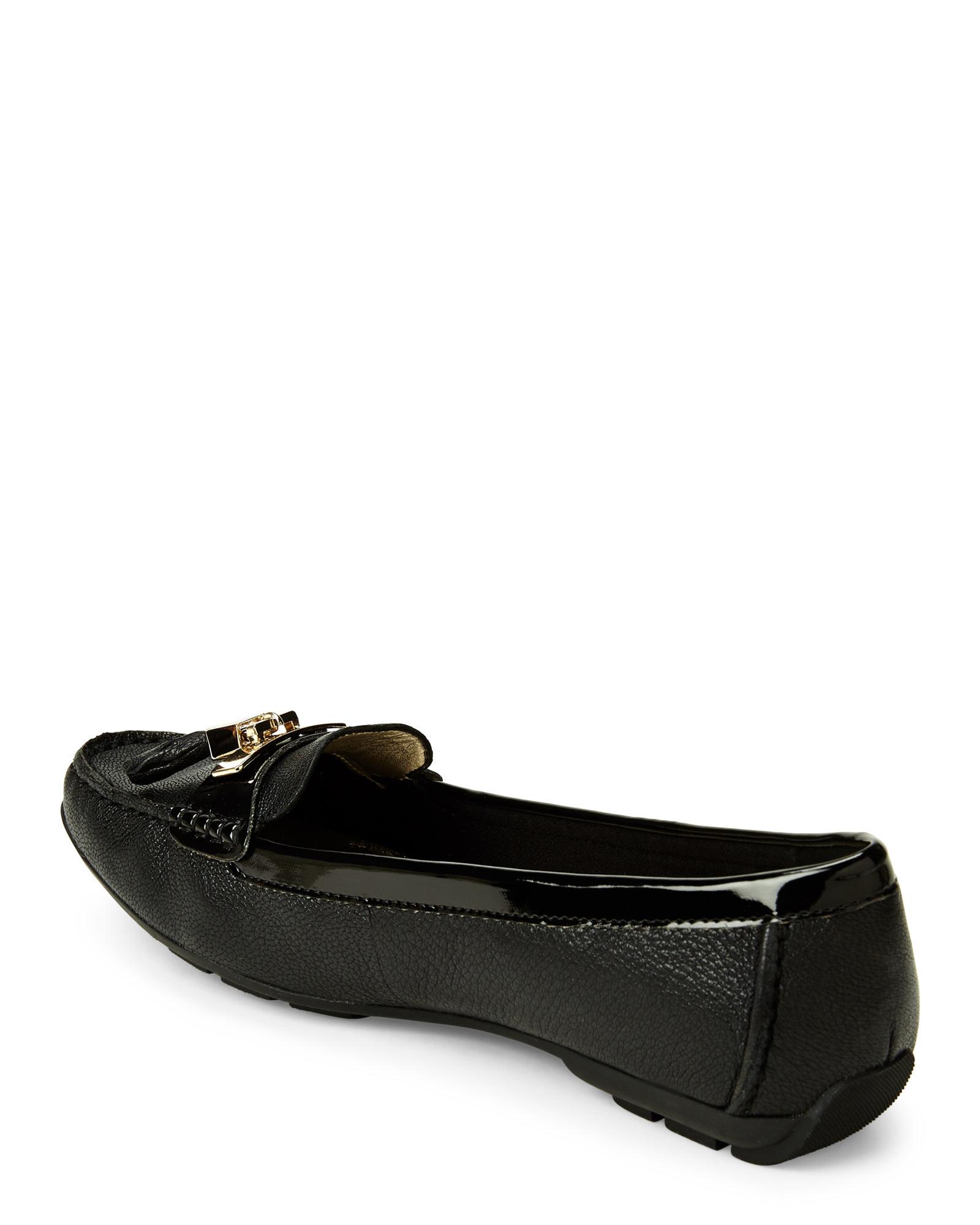 3b0ce3f252a Lyst - Anne Klein Black Koates Moc Loafers in Black