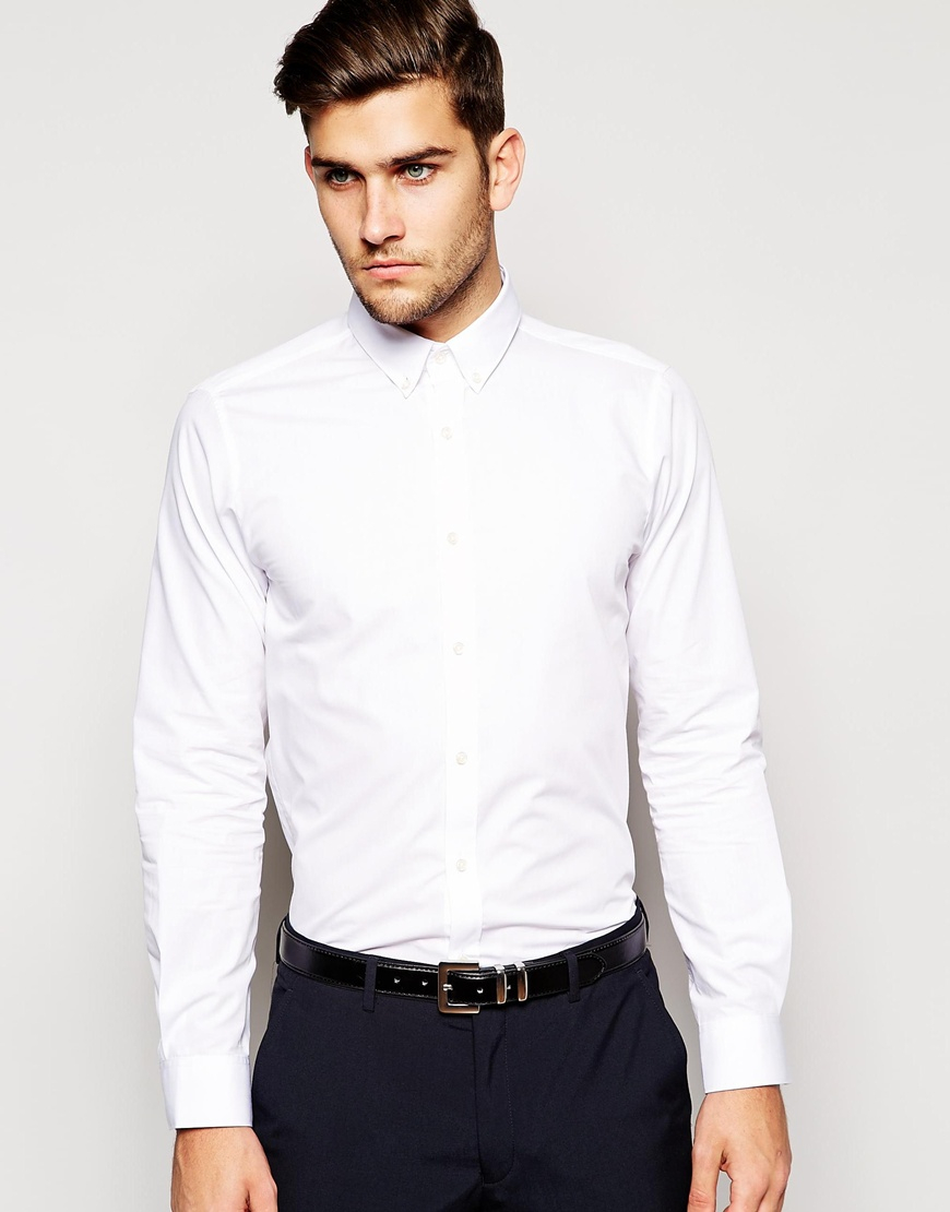 Lyst selected selected formal shirt with button down for Button down collar dress shirts