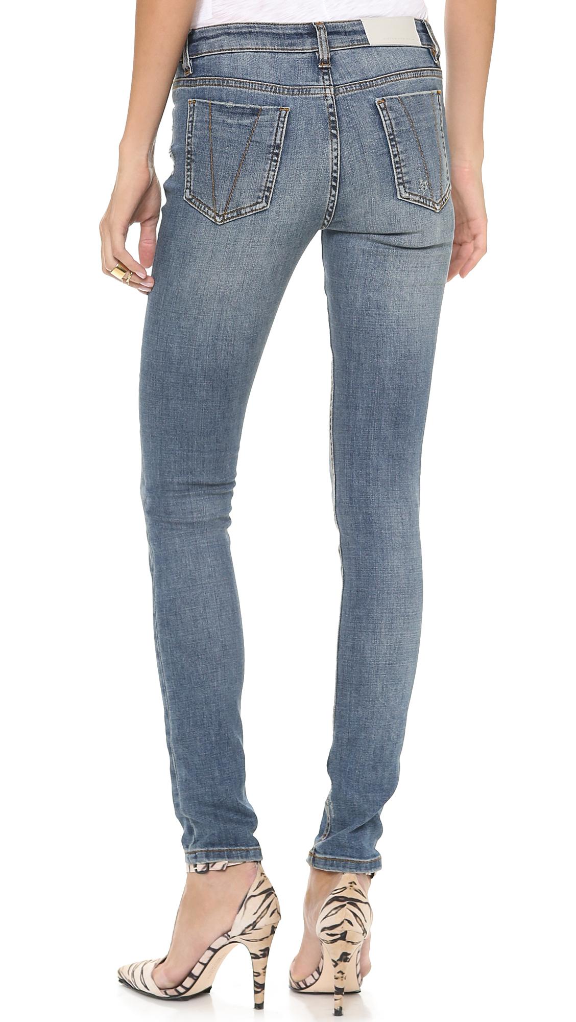 lyst victoria beckham super skinny jeans in blue. Black Bedroom Furniture Sets. Home Design Ideas